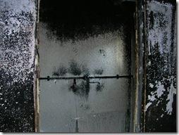 体験談写真、火事の現場の様子